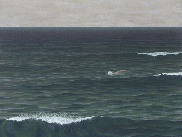 Alex Colville, Swimmer, 1962 Egg Tempera20 7/8 x 27 7/8 in.53 x 70.8 cm