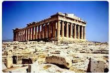 Partenone, Kallikrates e Iktinos, 447-432 Dedicato alla dea Atena, situato nell'Acropoli di Atene. In marmo pantelico