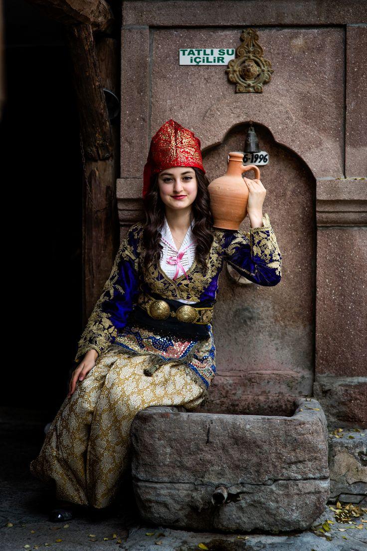 *** by Turgut Kirkgoz on 500px.  Turkish woman in traditional clothing.  #history #life #people #portrait #street #travel #woman #turkey
