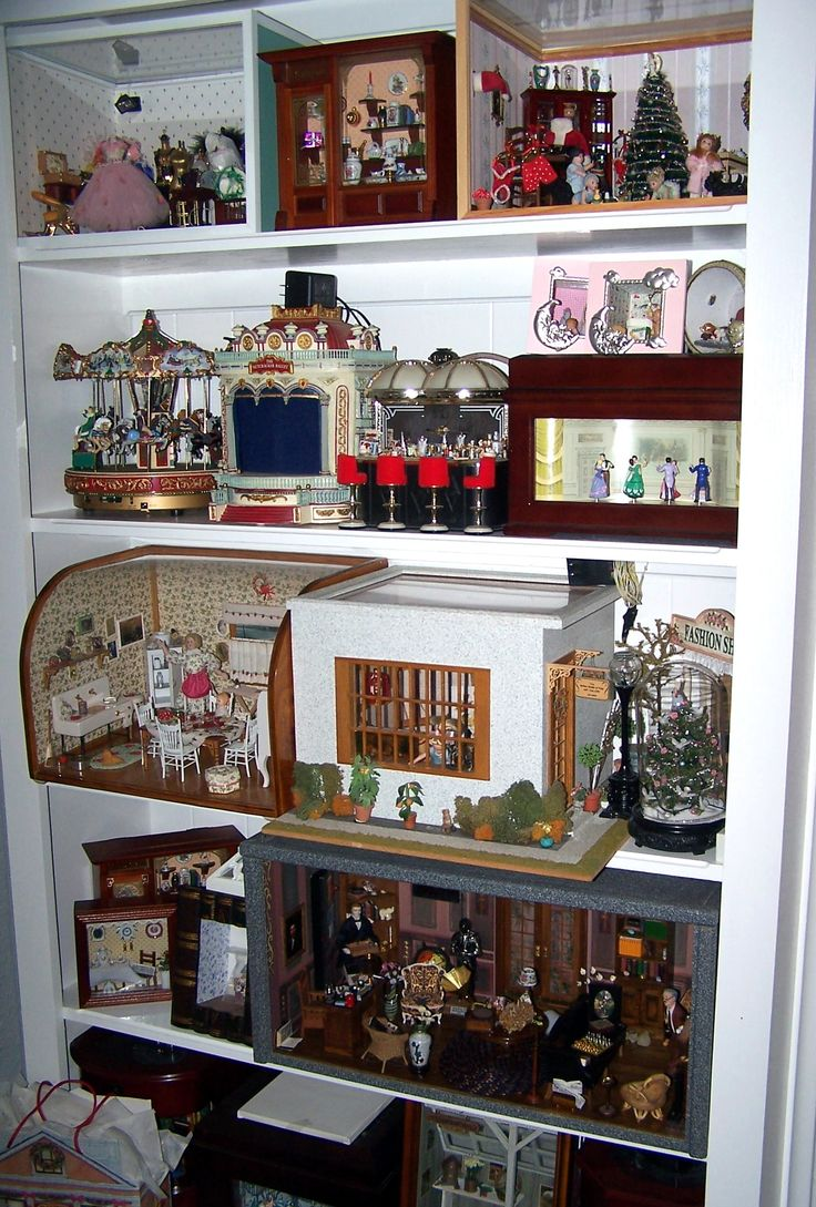 Designer dioramas miniature rooms - Shelves W My Miniature Room Boxes