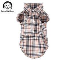 Bruce & Williams Luxe Klassieke Plaid Hond Kleding Zomer T-Shirt Leuke Shirt Kostuum Jurk Voor Kleine Medium Honden Kat DC129(China (Mainland))