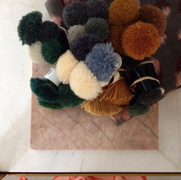 Selecting colours for a rug. We love the influence and drama a rug creates in an interior! Upsize the design and be brave with colour selections. ScX