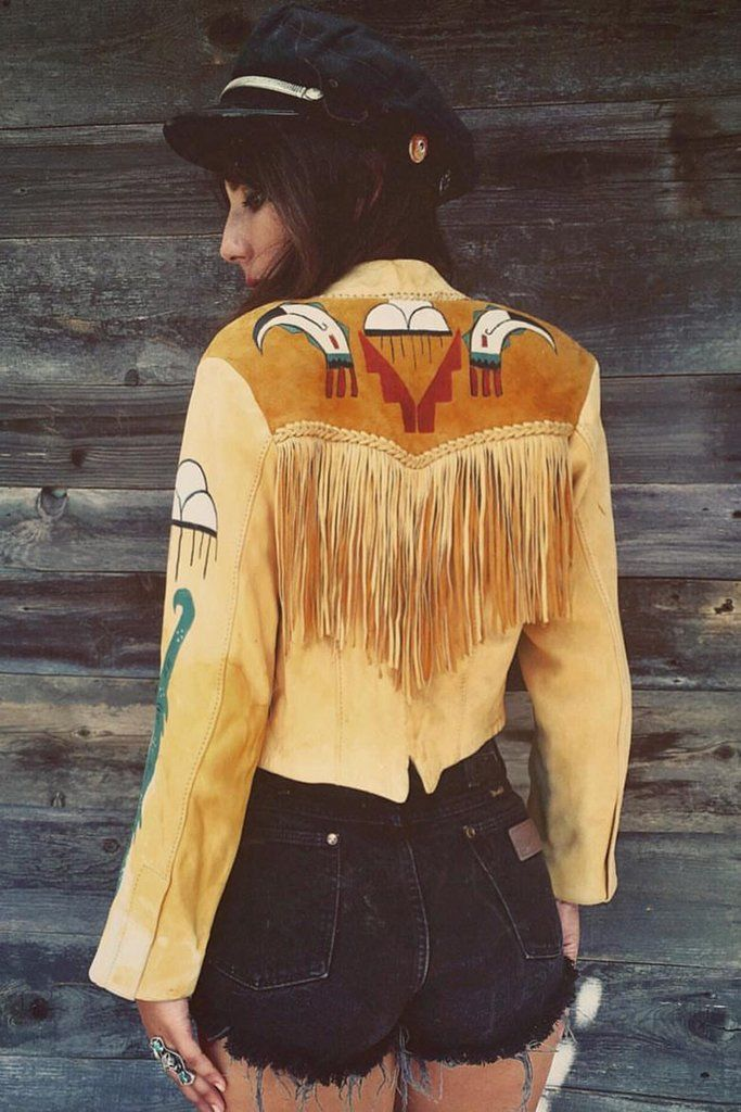 'Mystical Daydream' MOTHER LODE 1970s Soft Deerskin Handmade Leather Jacket