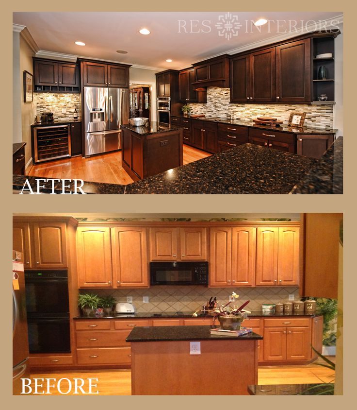 Refaced Cabinets With Full-overlay Flat Panel Doors