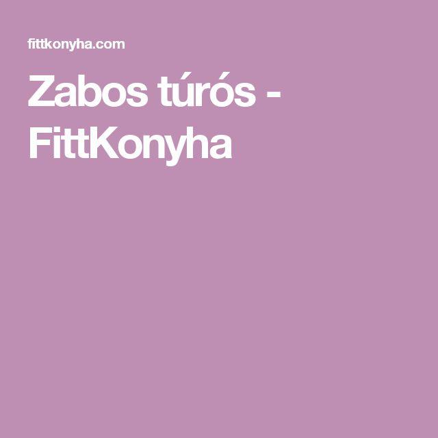 Zabos túrós - FittKonyha