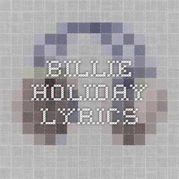 Billie Holiday Lyrics