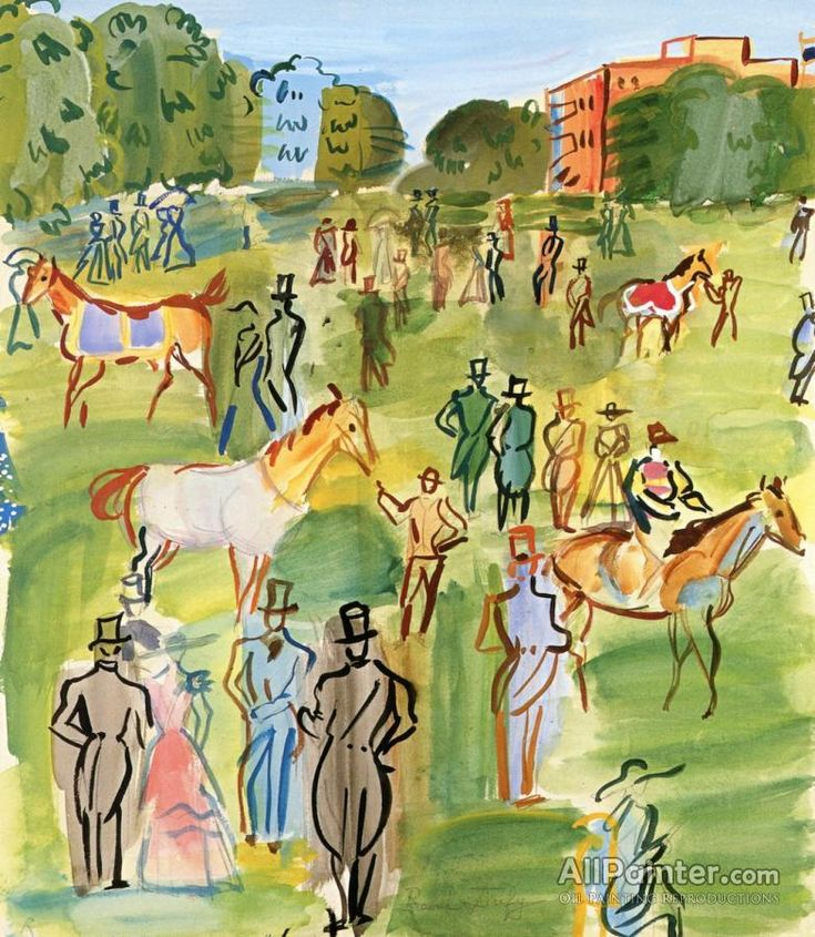 Raoul Dufy,Paddock At Ascot oil painting reproductions for sale