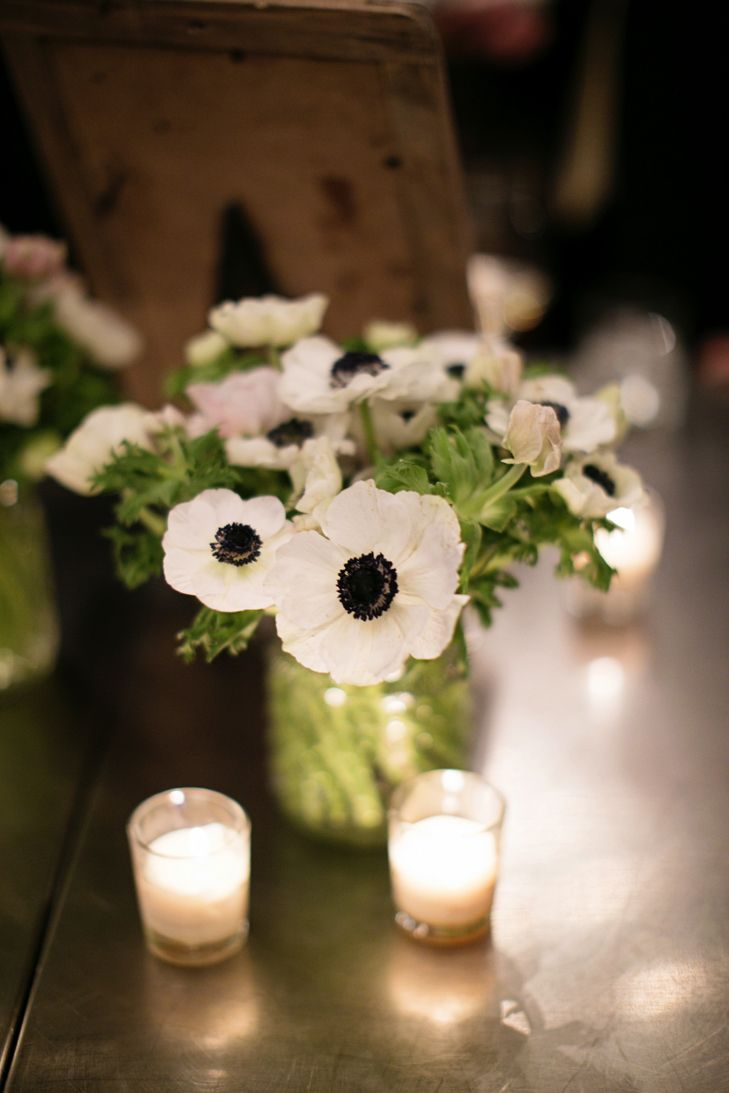 Bright White Anemone Centerpieces | Patrick Clayton Productions | Prema Photographic