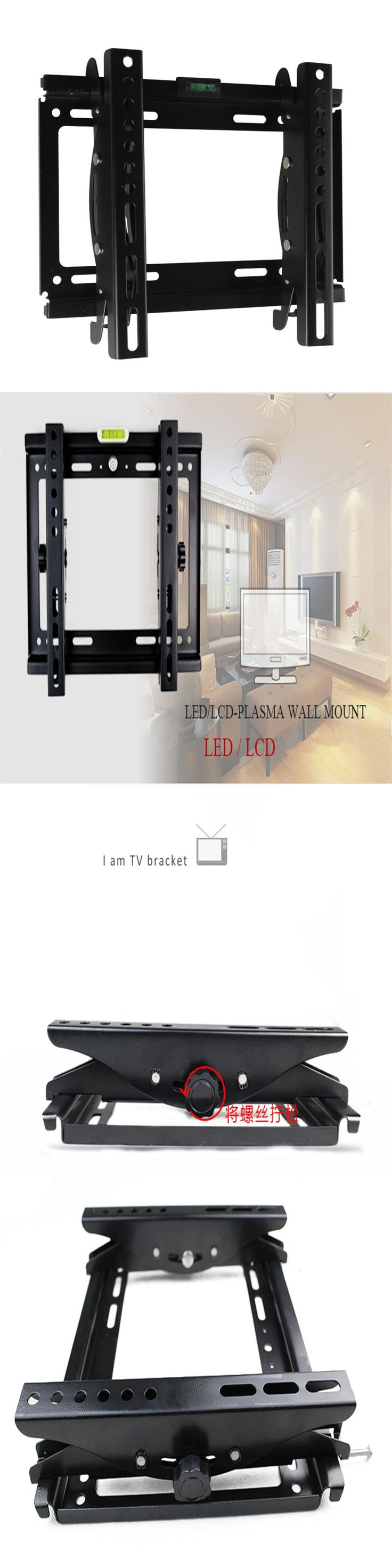 "New Black Adjustable Swivel  LED LCD TV Wall Mount Bracket 32"" Below Steel Support 20kg Monitor Stand Mount 14 18 20 25 29 32"