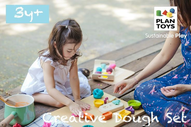 Explore the outer limits of your creativity with various patterns to choose from with this Creative Dough Set! It even comes with directions to make your own dough!  http://usa.plantoys.com/product/creative-dough-set/