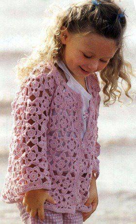 a girls jacket in crochet