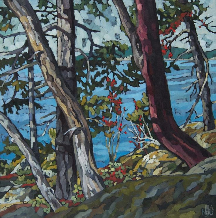 Mary-Jean Butler - Through the Trees - oil on canvas - 24 x 24