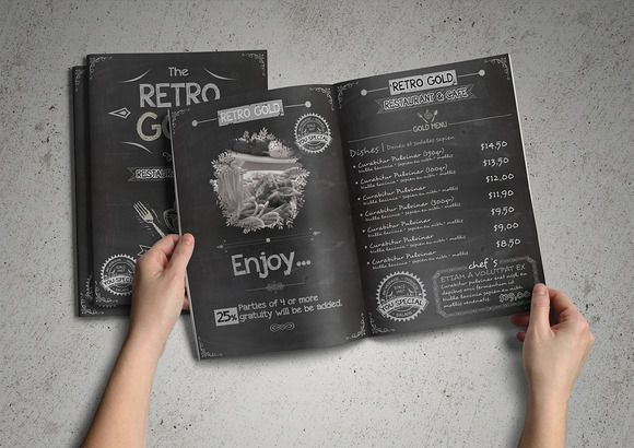 Retro Cafe & Restaurant Menu Pack by fatihakdemir on Creative Market