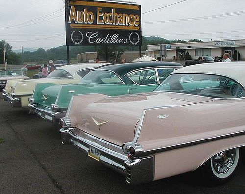 #1957 Cadillac tailfins by thebig429, via Flickr
