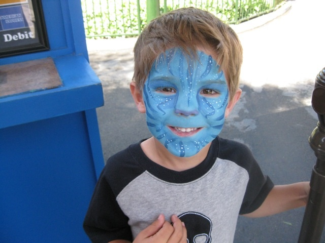 Cute avatar face paint face painting pinterest for Paintings of toddlers
