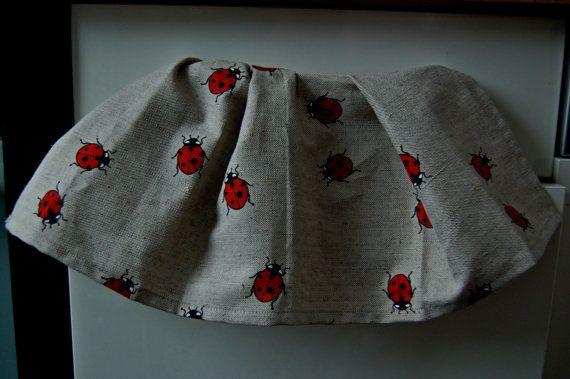 Natural linen tea towel lovely design towel by LovelyCraftsHome