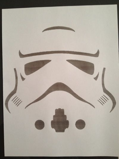 printable storm trooper pattern for balloons