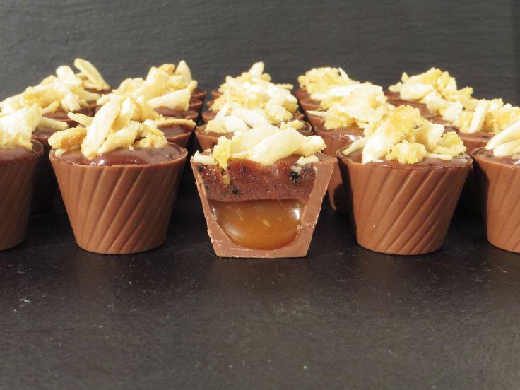 Chokolader med saltkaramel, lakrids og mandler