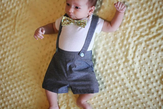 Baby Suspender Shorts Tutorial and Pattern
