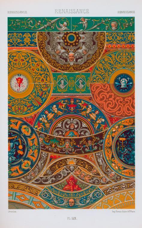 L'ornement polychrome ... motifs de tous les styles, art ancien et asiatique (1880s). NYPL Art and Architecture Collection.