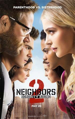 New movies: Neighbors 2: Sorority Rising (Seth Rogen, Zac Efron, Rose Byrne), The Angry Birds Movie, The Nice Guys, Ma ma, Maggie's Plan, Weiner, Gurukulam