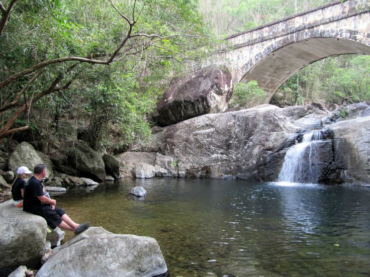 Little Cystal Creek Bridge in Puluma National Park was a beautiful surprise.  It's heritage listed and was built in the 1930s.