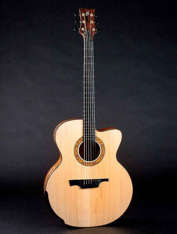 Greenfield Guitars (G4 model in pic) Model GF priced from $10,400.  Other models priced from $14,500