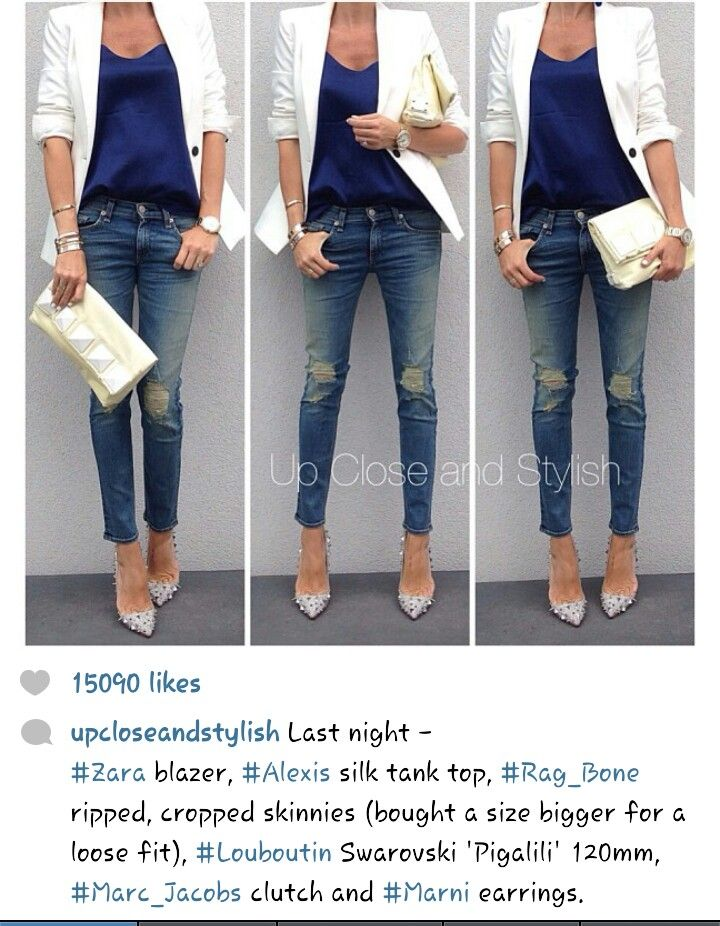 Girlsu0026#39; night out outfit | Jeans for every occasion | Pinterest | Blazers Girls and Night out