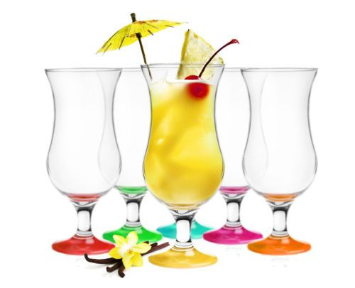 6-Cocktailglaeser-Mix-440ml-Hurricane-Cocktailglas-Longdrinkglaeser-Eisglaeser