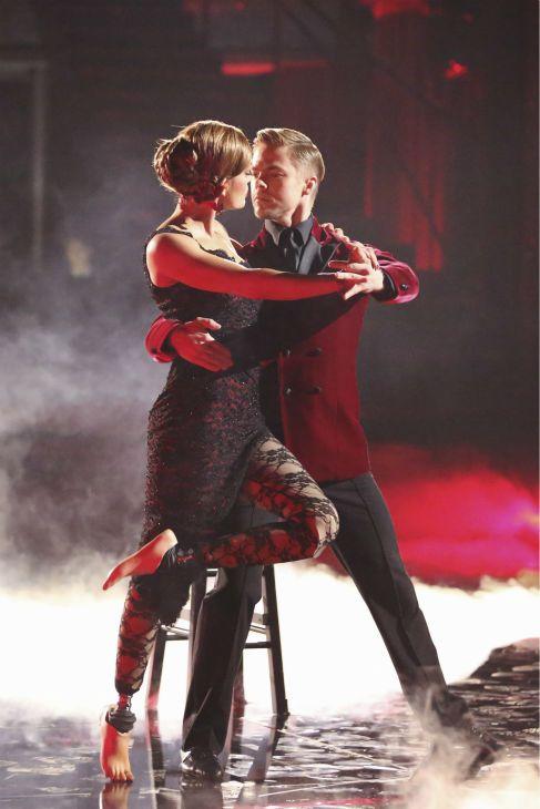 "Wk 8 Amy & Derek danced Argentine Tango to ""Heart Upon My Sleeve"" by Avicii  10+10+10+10=40"