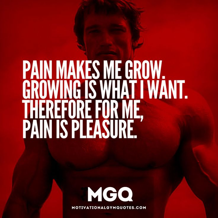 """Pain makes me grow. Growing is what I want. Therefore for me, pain is pleasure""  http://www.whattsupps.com.au  #Whattsupps #musclebuilding"