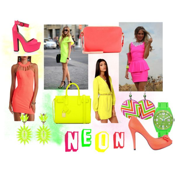 """Crazy NEON"" by nikousek on Polyvore"