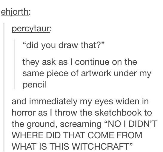 """This happened to me in painting the other day. Like """"No, I'm just painting over someone else's painting because that's so normal."""" XD"""