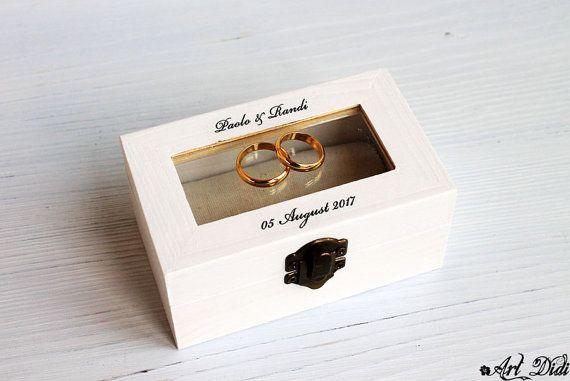 wedding ring box decoupage box ring bearer box jewelry by ArtDidi