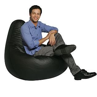 Bean Bag Factory Adult Black Vinyl Chair Skin Cover 16 At Kmart