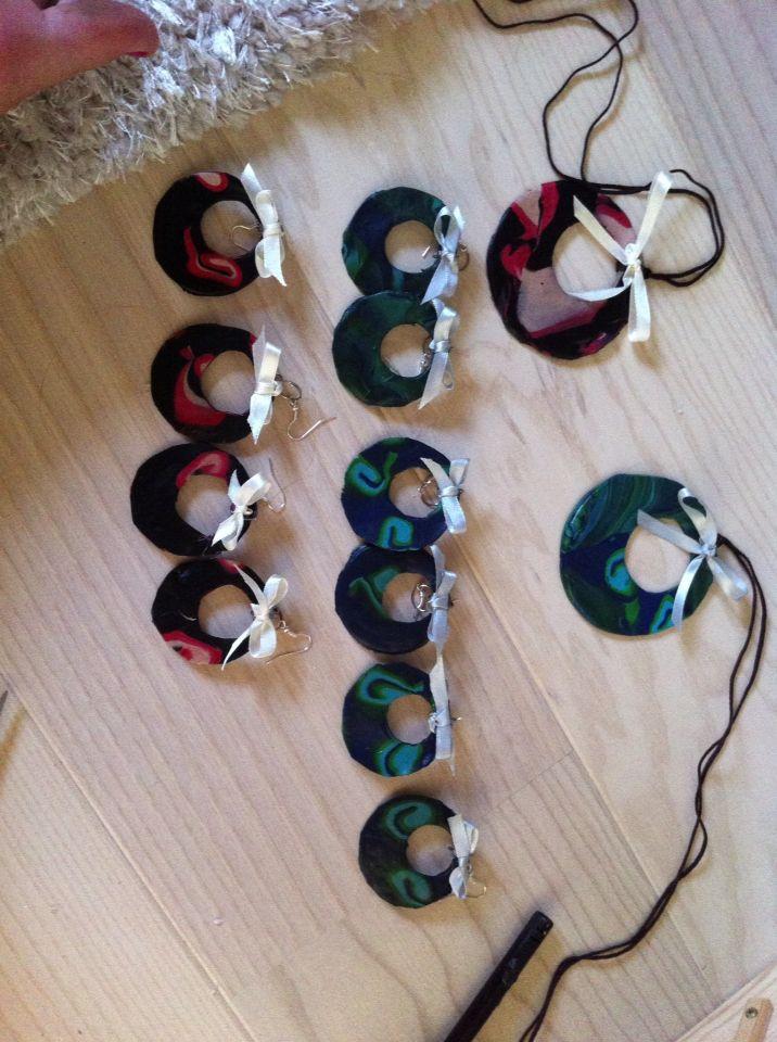 Smykker lavet af fimoler