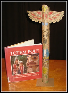 Make a miniature totem pole. Links to free printables and a handwriting page so kids can tell the story of their pole.
