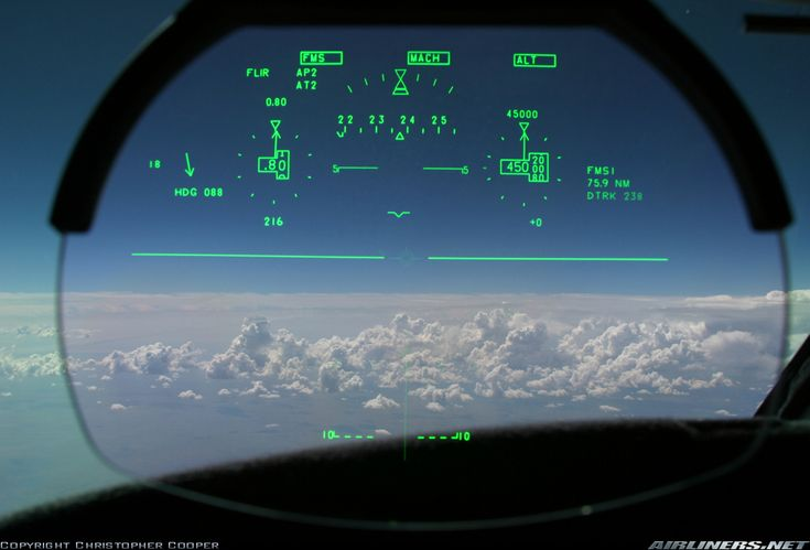 Gulfstream Aerospace G-V-SP Gulfstream G550    N747AE (cn 5065) HUD view from a brand new G550, only about 19 hours on the aircraft.