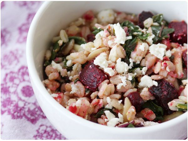 barley salad chipotle barley salad with corn zucchini and radishes via ...
