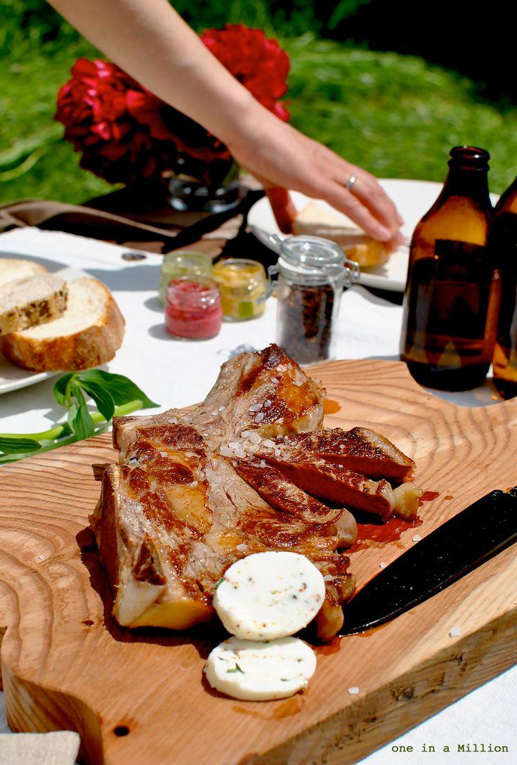 costata, marinata, spezie orientali, saporita, griglia, piastra, birra, contorno di verdure, estate