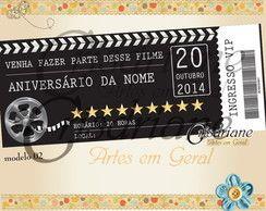 Convite Ingresso Cinema