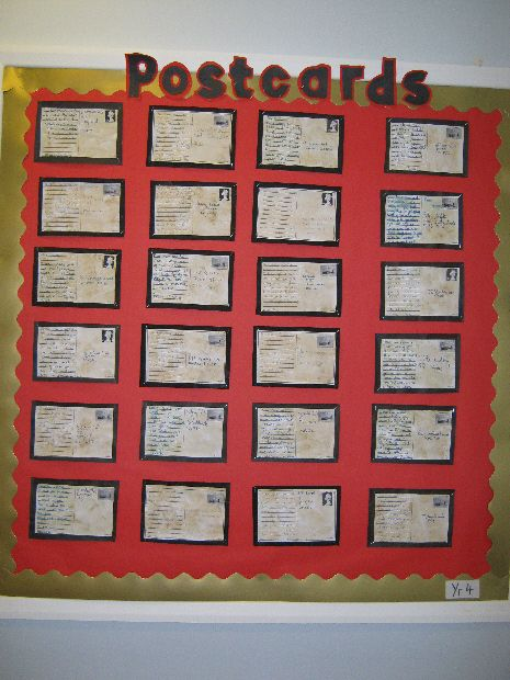 World War Two Postcards (Year 4) classroom display photo - Photo gallery - SparkleBox
