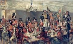 St David's Day Dinner Officers Mess c1814
