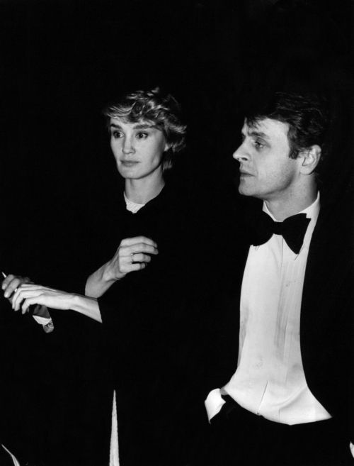 With Jessica Lange in 1983