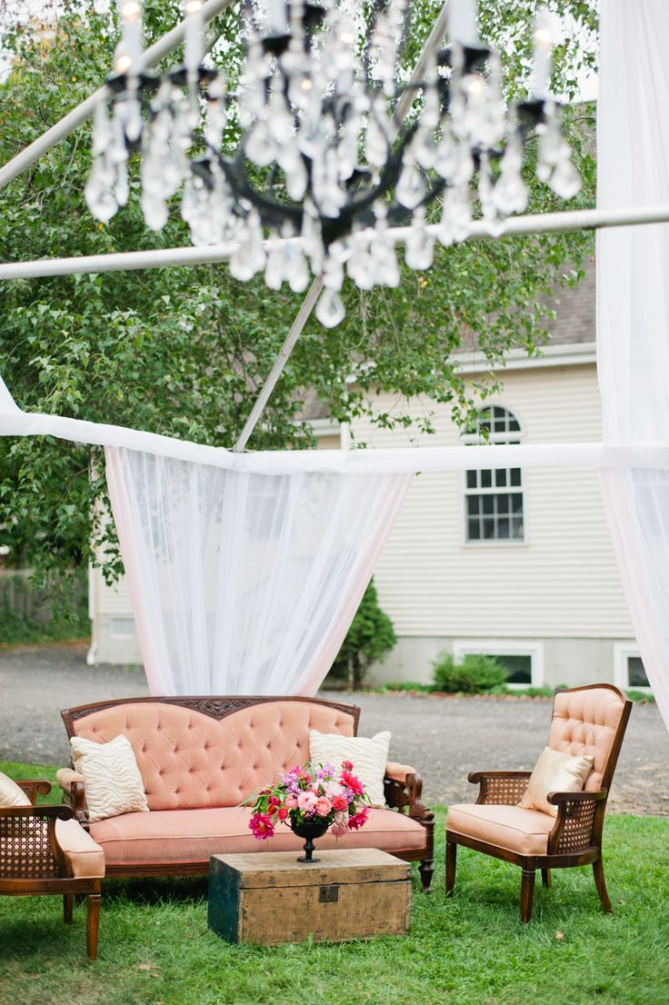 Uncategorized outdoor vintage glam wedding rustic wedding chic - Blowdry Styling Room Opening Party From True Event Wedding Loungerustic