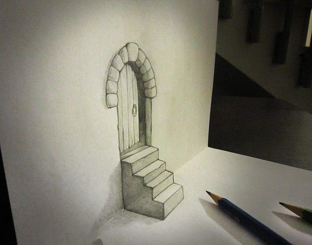 You have got to hand it to him, these 3-D drawings really are amazing: Artist…
