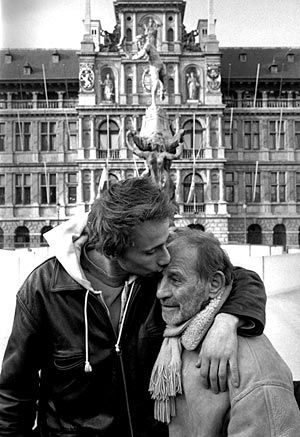 "Father and Son - ""No one should be alone in their old age, he thought.""   ― Ernest Hemingway"
