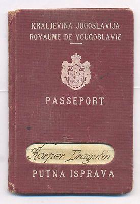 EXPIRED PASSPORT OF KINGDOM OF YUGOSLAVIA FROM 1937 * RARE.  http://www.ebay.com/itm/EXPIRED-PASSPORT-KINGDOM-YUGOSLAVIA-1937-RARE-/161112936708?pt=LH_DefaultDomain_0&hash=item2583145104