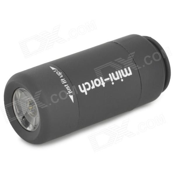 Mini USB Rechargeable 2-Mode LED Torch - Black