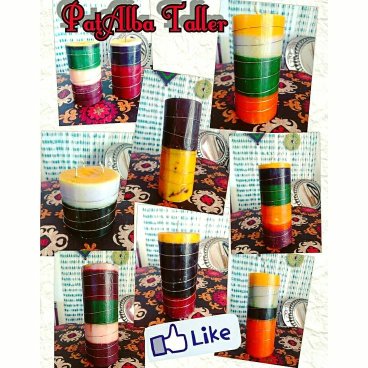 Velas rústicas aromáticas de varios colores y nueva aplicación de alambre.... ❤✨ #PatAlbaTaller #diseñodeautor #emprendedora #artesana #handmade #Velas #aromaticas #artesanales #energías #luz #rusticas #regalounico